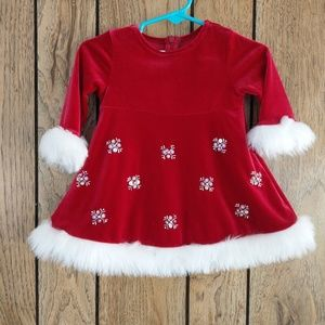 Bonnie Baby Christmas Dress